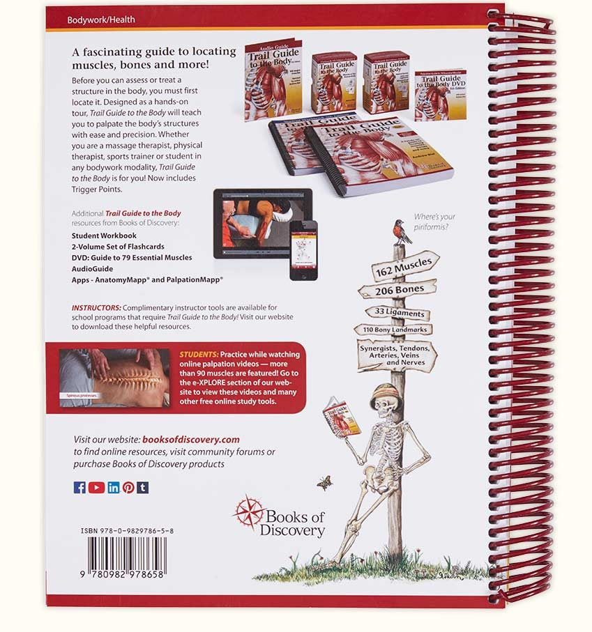 trail guide to the body 5th edition books of discovery rh booksofdiscovery com trail guide of the body flashcards trail guide of the human body