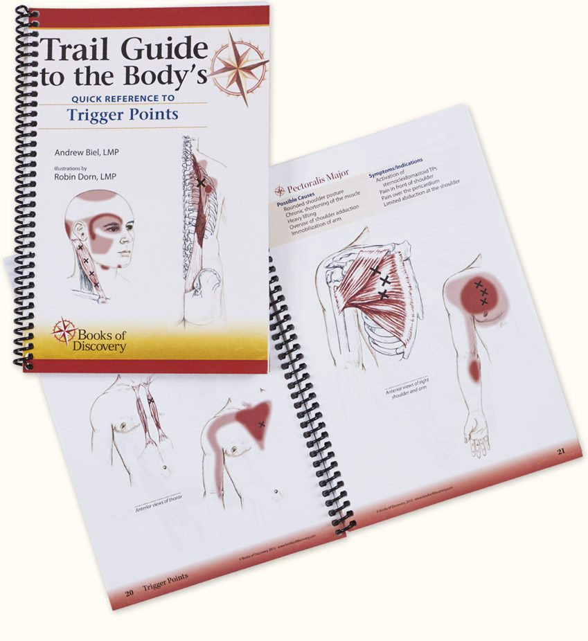 Trail guide to the bodys quick reference to trigger points books trail guide to the bodys fandeluxe Image collections
