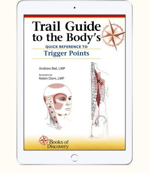 Trail guide to the body ebook and video 5th edition books of trail guide to the bodys quick reference to trigger points ebook fandeluxe Image collections